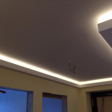 Stimmungsvolle Lichtinstallation